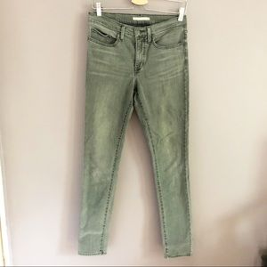Levi's 311 Shaping Skinny Gray Denim Jeans Size 30